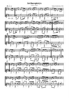 Archaeopteryx: Für Violine und Gitarre by Othmar Endelweber