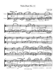 Viola Duet No.11: Viola Duet No.11 by Jordan Grigg