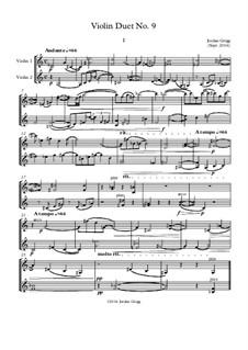 Violin Duet No.9: Violin Duet No.9 by Jordan Grigg