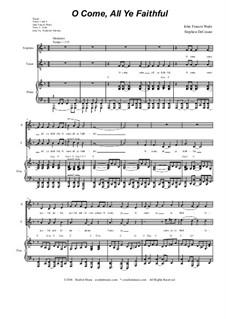Придите к Младенцу: Duet for soprano and tenor solo by Джон Фрэнсис Уэйд