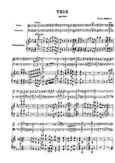 Фортепианное трио No.2 ми-бемоль мажор, D.929 Op.100: Партитура, Партии by Франц Шуберт
