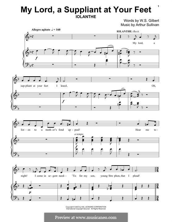 My Lord, a Suppliant at Your Feet: Для фортепиано by Артур Салливан