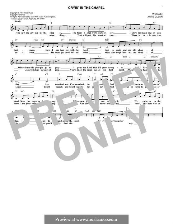 Crying in the Chapel (Elvis Presley): Мелодия by Artie Glenn
