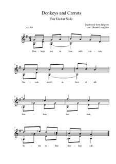 Donkeys and Carrots: For guitar solo (G Major) by folklore