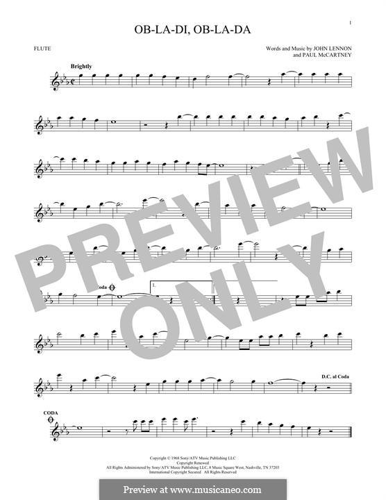 Ob-La-Di, Ob-La-Da (The Beatles): Для флейты by John Lennon, Paul McCartney