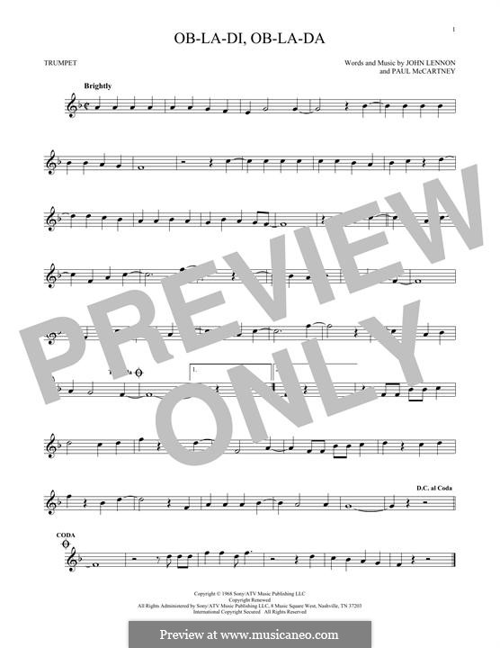 Ob-La-Di, Ob-La-Da (The Beatles): Для трубы by John Lennon, Paul McCartney