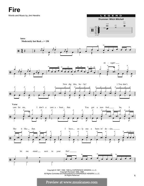 Fire: Drum set by Jimi Hendrix