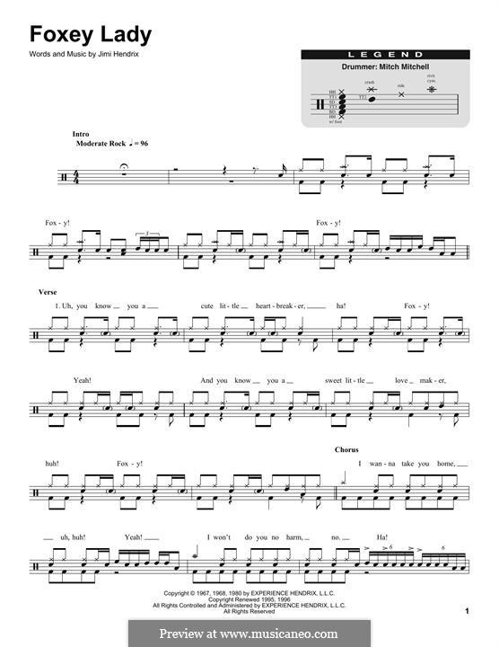 Foxy Lady: Drum set by Jimi Hendrix