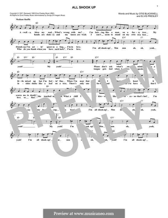 All Shook Up: Мелодия by Elvis Presley, Otis Blackwell