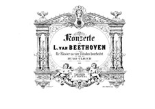 Весь концерт: Версия для фортепиано в четыре руки Г. Ульриха by Людвиг ван Бетховен