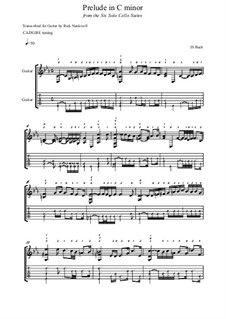 Сюита для виолончели No.5 до минор, BWV 1011: Prelude, for guitar by Иоганн Себастьян Бах
