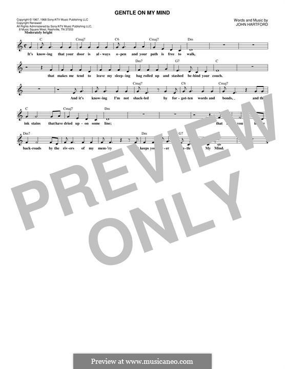 Gentle On My Mind: Мелодия by John Hartford