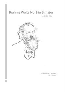 Вальс No.1: Arrangement for tuba by Иоганнес Брамс