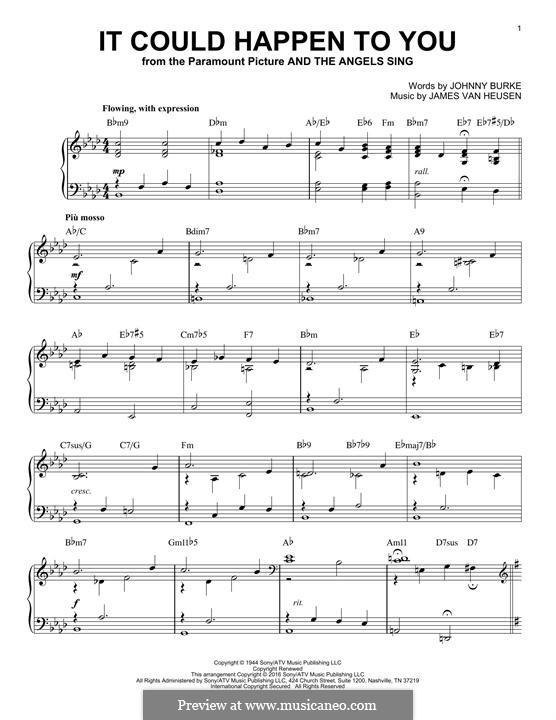 It Could Happen to You: Для фортепиано by Jimmy Van Heusen