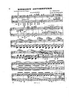 Эгмонт, Op.84: Увертюра, для камерного оркестра и фортепиано – партии by Людвиг ван Бетховен