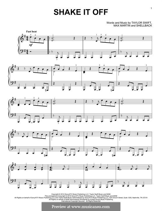 Shake it Off: Для фортепиано by Shellback, Max Martin, Taylor Swift