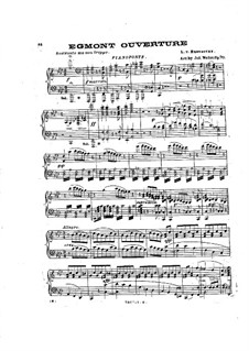 Эгмонт, Op.84: Увертюра, для фортепиано by Людвиг ван Бетховен