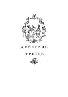 Вся опера: Акт III, для солистов, хора и фортепиано by Вольфганг Амадей Моцарт