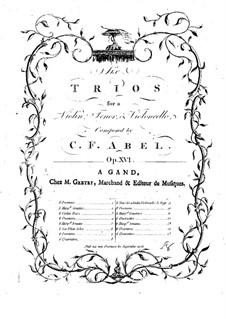 Шесть струнных трио, Op.16: Партия альта by Карл Фридрих Абель