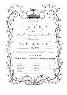 Шесть струнных трио, Op.16: Партия виолончели by Карл Фридрих Абель