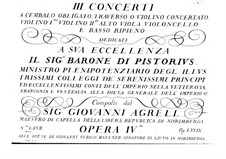 Три концерта для клавесина и струнных, Op.4: Партия клавесина by Иоганн Агрелл