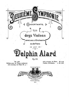 Симфония No.2, Op.33: Переложение для двух скрипок и фортепиано by Жан Дельфен Аляр