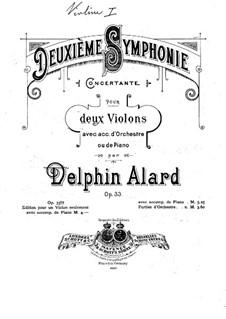 Симфония No.2, Op.33: Переложение для двух скрипок и фортепиано – партия первой скрипки by Жан Дельфен Аляр