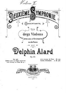 Симфония No.2, Op.33: Переложение для двух скрипок и фортепиано – партия воторой скрипки by Жан Дельфен Аляр