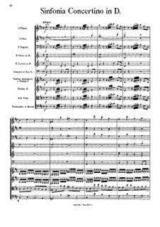 Симфония-концертино ре мажор: Партитура by Иоганн Георг Альбрехтсбергер