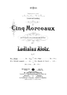 Пять пьес для виолончели и фортепиано, Op.47: No.1 Мелодия by Владислав Францевич Алоиз