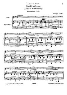 Медитация: Для скрипки и фортепиано by Джузеппе Арриго