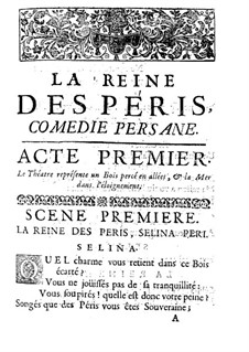 La Reine des Péris: Либретто by Жак Обер