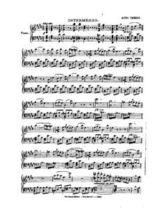 Вся опера: Акт III, клавир с вокальной партией by Даниэль Обер