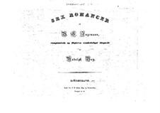 Шесть романсов: Шесть романсов by Рудольф Бэй
