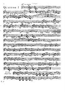Шесть квартетов для флейты, скрипки, альта и виолончели, T. 145-150: Партия скрипки by Джузеппе Мария Камбини