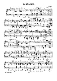 Фантазия фа минор, Op.49: Для фортепиано by Фредерик Шопен