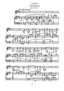 Рожденственские песни, Op.8: No.1 Рождественская ель by Петер Корнелиус