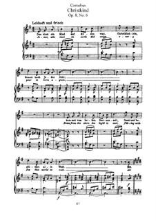Рожденственские песни, Op.8: Nr.6 Christkind by Петер Корнелиус
