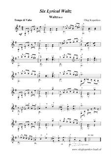 6 лирических вальсов, Op.1: 6 лирических вальсов by Олег Копенков