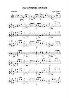 Неоромантическая сонатина, Op.7: Неоромантическая сонатина by Олег Копенков