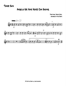 Angels We Have Heard Can Swing: For saxophone quartet – tenor sax part by folklore