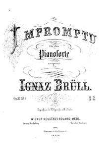 Три пьесы для фортепиано, Op.37: No.1 Экспромт до минор by Игнац Брюль