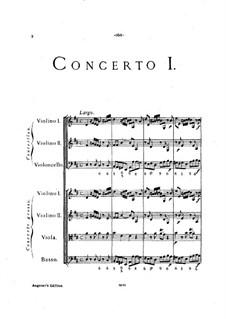 Кончерто гроссо No.1: Партитура by Арканджело Корелли