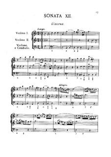 Двенадцать трио-сонат 'da camera' для двух скрипок и бассо континуо, Op.2: Соната No.12 by Арканджело Корелли