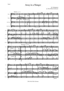 Away in a Manger: Для квартета флейт by Уильям (Джеймс) Киркпатрик