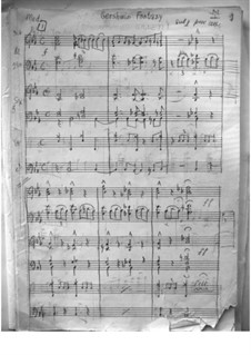 Фантазия на темы Гершвина для студенческого оркестра: Фантазия на темы Гершвина для студенческого оркестра by Джордж Гершвин