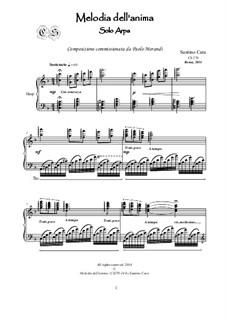 Melodia dell'anima in F major for Harp, CS270: Melodia dell'anima in F major for Harp by Santino Cara