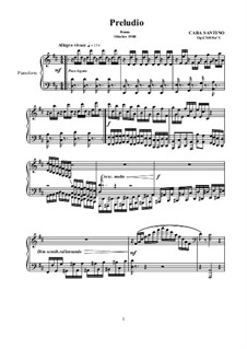 Two Preludes for Piano, CS018: Two Preludes for Piano by Santino Cara