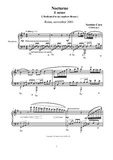 Two Nocturnes for Piano, CS054: Two Nocturnes for Piano by Santino Cara