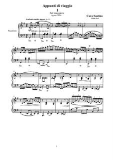 Three Travel Notes for Piano, CS266: Three Travel Notes for Piano by Santino Cara